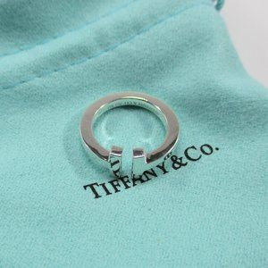 Tiffany and Co. T Square Ring in Sterling Silver